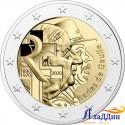 2 евро. 50 лет со дня смерти Шарля де Голля и 80-летие обращения 18 июня. 2020 год