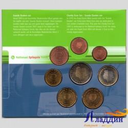 Официальный годовой набор евро Нидерланды 2003 года в буклете