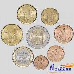 Набор монет евро Андорра