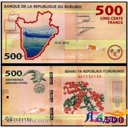 Банкнота 500 франков Бурунди