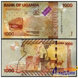 Банкнота 1000 шиллингов Уганда