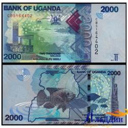 Банкнота 2000 шиллингов Уганда
