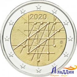 2 евро. 100-летие университета Турку. 2020 год