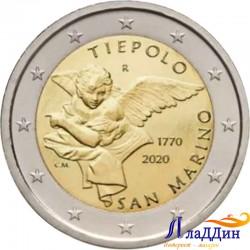 2 евро. Джованни Баттист Тьеполо вафатына 250 ел. 2020 ел