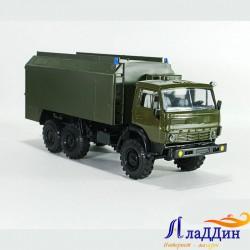 Коллекционная модель Камаз 4310 с тентом. Хаки