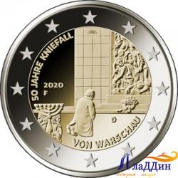 2 евро. 50-летие коленопреклонения в Варшаве. 2020 год