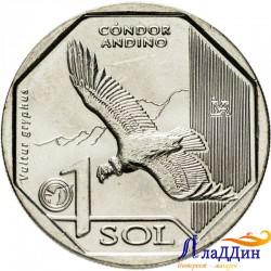 Перу 1 соль. Андский кондор. 2017 ел