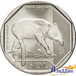 Перу 1 соль. Горный тапир. 2018 год