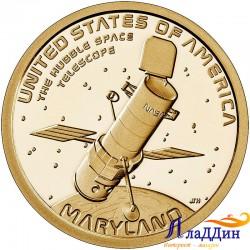 1 доллар Инновации США. Космический телескоп «Хаббл» на орбите Земли. 2020 год