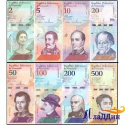 Набор банкнот Венесуэлы 2018 года.