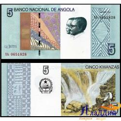 Банкнота 5 кванз Ангола