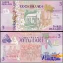 Банкнота 3 доллара Острова Кука.1992 год