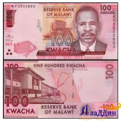 Банкнота Малави 100 квача