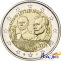 2 евро Люксембург. 100 лет со дня рождения Великого Герцога Жана. 2021 год