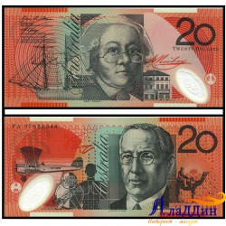 Банкнота 20 долларов Австралия. 2007 год. Пластик