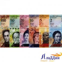 Набор из 6 банкнот Венесуэла. 2013-2015 гг.