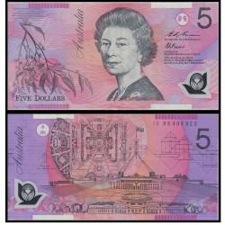 Банкнота Австралия 5 долларов . Пластик