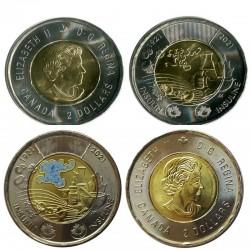 Набор монет 2 доллара 100 лет открытия Инсулина. 2021 год