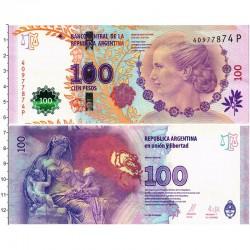 Банкнота 100 песо Аргентина. Ева Перон