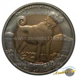 Монета 1 лира Собака
