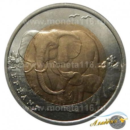 Монета 1 лира Слон