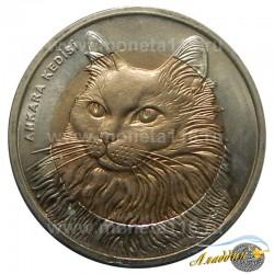 Монета 1 лира Кот