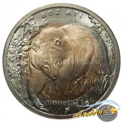 Монета 1 лира Медведь