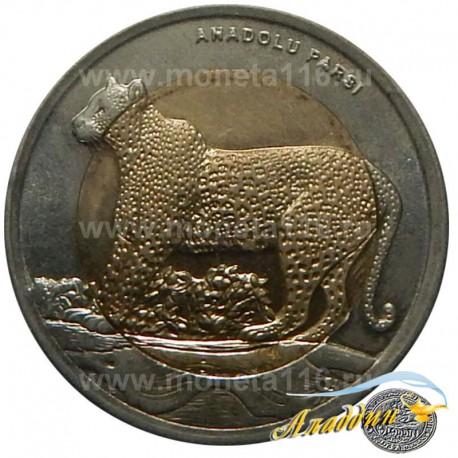 Монета 1 лира Леопард
