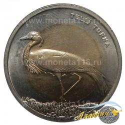 Монета 1 лира Журавль