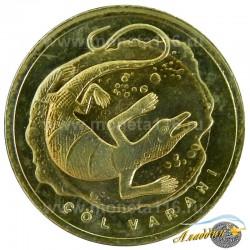 Монета 1 лира Варан