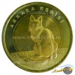 Монета 1 лира Ангорская Кошка
