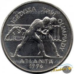 XXVI җәйге Олимпия Уеннарына багышланган 2 злотый тәңкәсе