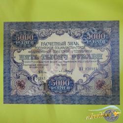 1919 елгы РСФСР 5 000 сумм кәгазь акчасы