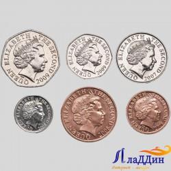 Набор из 6 монет Джерси