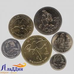 Набор из 6 монет Гватемала