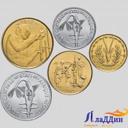 Набор из 5 монет Западной Африки