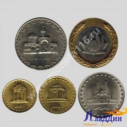 Набор из 5 монет Иран Мечети