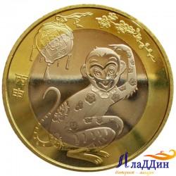 Китай 10 юаней Год обезьяны. 2016 год