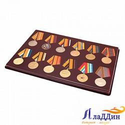 Планшет для 12 медалей. D-32 мм с пятиугольной колодкой