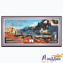 Банкнота 1 доллар Антарктида