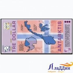 Антарктида 2 доллар кәгазь акчасы. 2008 ел