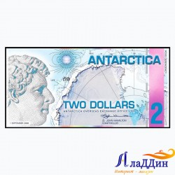 Банкнота Антарктида 2 доллара 2008 год