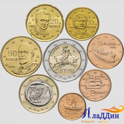 Набор монет евро Греции