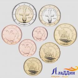 Набор монет евро Кипр