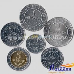Набор из 6 монет Боливия