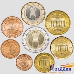 Набор евро монет Германии