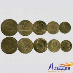 Набор монет Бразилии. Известные люди.