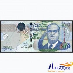 Банкнота 10 долларов Багамские острова
