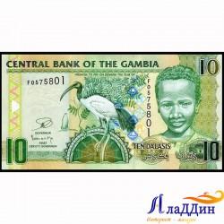 Банкнота 10 даласи Гамбия. 2006 год