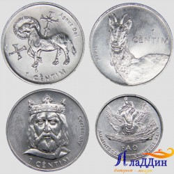 Набор из 4 монет Андорра